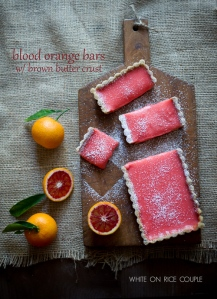 Luscious Blood Orange Bars with a Brown Butter Crust