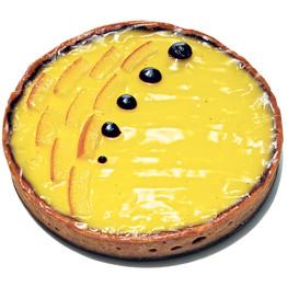 Zachary Golper's Orange-Bergamot Custard Tart with Rosemary-Chocolate Ganache