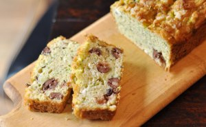 Zucchini and Olive Breakfast Cake, French-Style