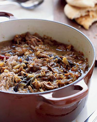 Iraqi Lamb and Eggplant Stew with Pitas