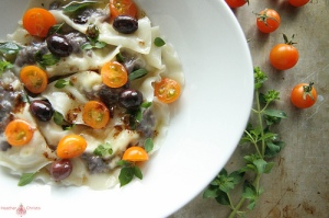 Olive and Goat Cheese Ravioli
