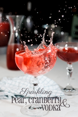 Sparkling Pear, Cranberry & Vodka