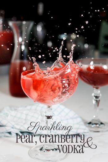 Sparkling Pear, Cranberry & Vodka