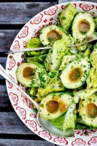 Salad with Avocado Dressing Bowls
