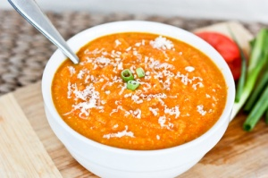 Warm Carrot Parsnip Soup