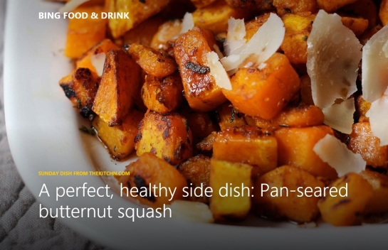 Pan-Seared Butternut Squash with Balsamic & Parmigiano Shards