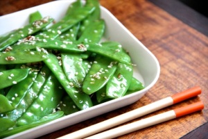 Garlic Sesame Snow Peas