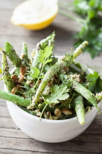 Green Bean Salad with Herb-Tahini Dressing and Toasted Almonds