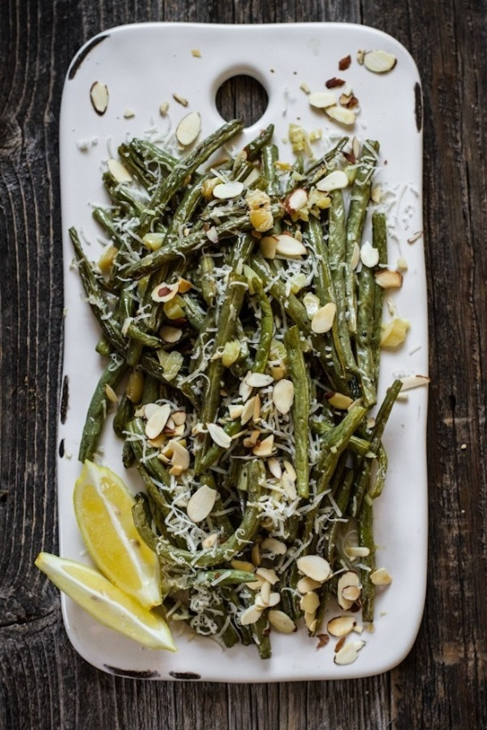 Roasted Garlic Green Beans with Lemon