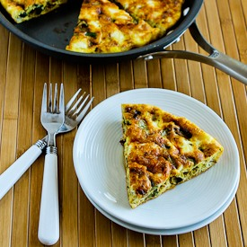 Zucchini Frittata with Mozzarella, Feta, and Parmesan